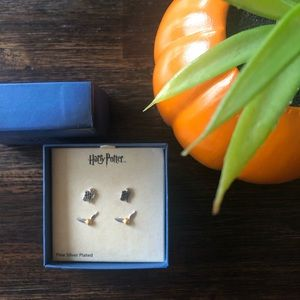 Harry Potter Silver Plated Earring Studs